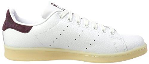 adidas Herren Stan Smith Sneaker Mehrfarbig (Ftwr White/ftwr White/dark Burgundy F12)