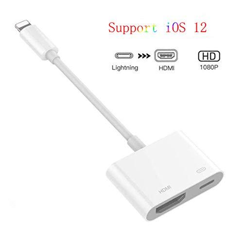 Kdely Phone auf HDMI Kabel 1080P HDTV Digital AV Lighting to HDMI Adapter für Phone XS/XS Max/XR/X / 8/8 Plus/7/7 Plus/6/6s Plus/ 5 /5s/ 5c/5SE Pad Pro/Mini/Air Bis zu iOS 12 -