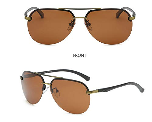 KOMNY Polarisierte Sonnenbrillen Herren Sonnenbrillen Eye Driver Farbe Nachtsichtbrille Driving Special Driving Pilot Brille Flut, H