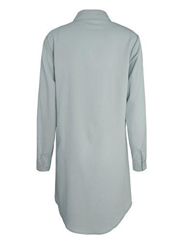 ISASSY Damen Bluse Grau