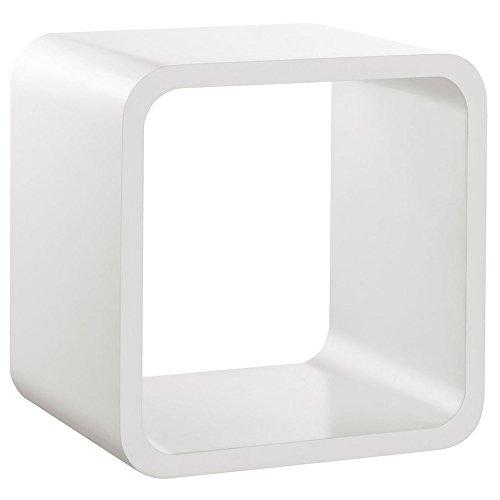 REGALRAUM Wandregal/Würfelregal SOFTCUBE | Retro Lounge Cube Design | 26x20x26 cm - weiß