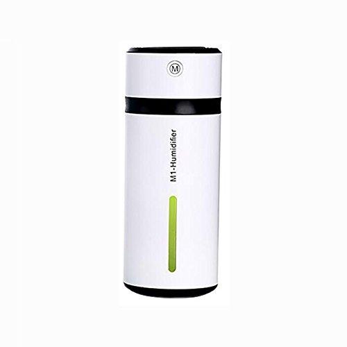DWCC Mini Luftbefeuchter USB Nachtlicht Aromatherapie Tragbare Kühle Ultraschall Whisper Ruhig Für Baby Schlafzimmer Office Home Car,Black
