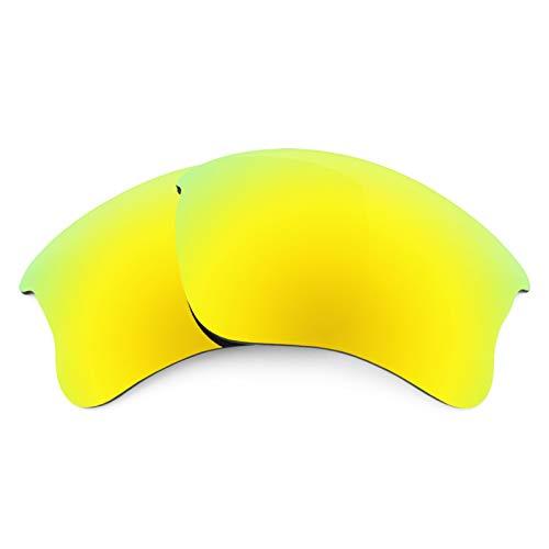 Revant Ersatzlinsen für Oakley Flak Jacket XLJ Polarisierung Bolt Gold MirrorShield® Asian Fit