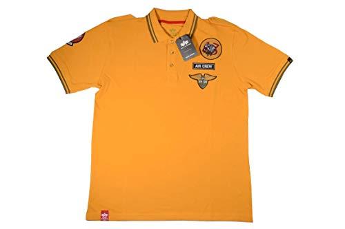 Alpha Baumwolle Polo-shirt (Alpha Industries Herren T-Shirt Air Crew Polo (L))