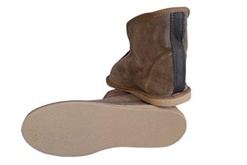 Pantofole Unisex in Pelle Naturale e Fodera in Lana di Pecora, taglia 36-45 Suede Gray / 2