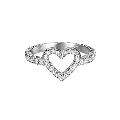 Esprit Ring Brilliance Heart 925 Sterling Silber-53
