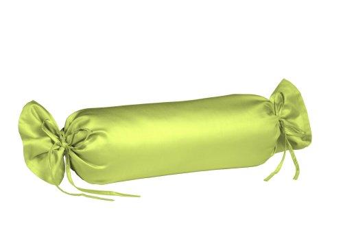 fleuresse Colours Uni-Mako-Satin-Nackenrolle 40 x 15, 100% Baumwolle