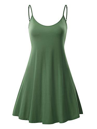 MSBASIC Ärmelloses, verstellbares Riemchensommer Strand Swing Kleid für Damen 17148-2 Small