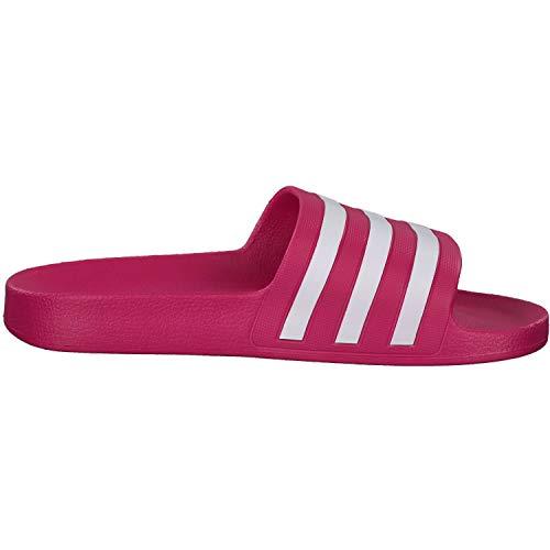 adidas Unisex-Erwachsene Adilette Aqua Badeschuhe Pink Footwear White/Real Magenta 0, 42 EU