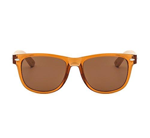 Suertree Bamboo Sonnenbrille Vintage Runde Farbtöne Retro cute Frauen Männer sommerrunde UV 400 schützen Brillen JH8001