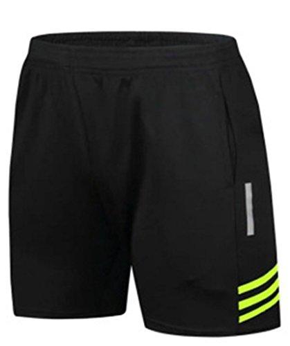 SPRAWL Herren Sport Shorts Mit Taschen und Reflektierende Streifen