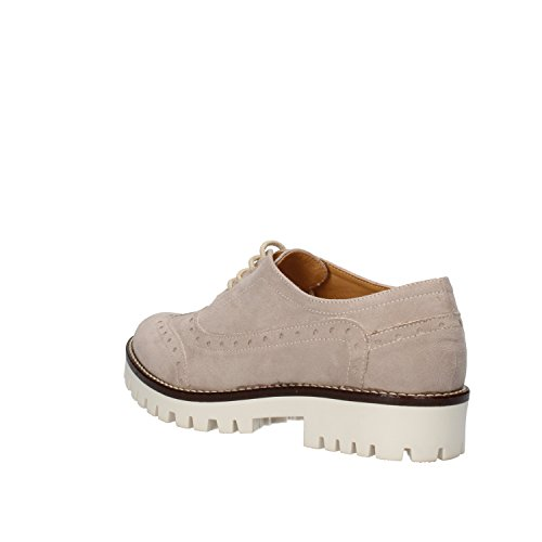 OLGA RUBINI chaussures élégantes Femme bleu /beige daim Beige