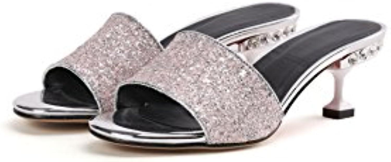 Sandalias de Mujer, Tacones de Aguja, Zapatillas