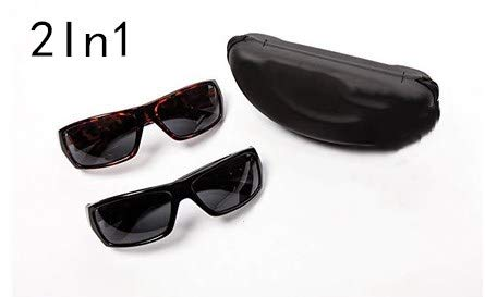 Jiaxingo 2 In 1 Classic Sonnenbrille Polarisierte Sonnenbrille Wrap Around Solar Reduzieren Sie den Schutz für Männer und Frauen
