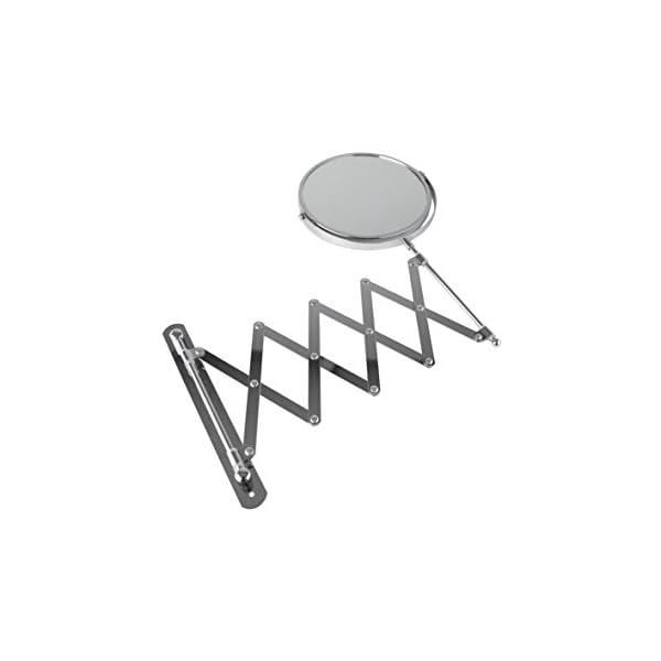 Axxentia Bad 282802 – Espejo de 3 aumentos con Brazo de Pared (17 cm, Extensible hasta 57 cm)