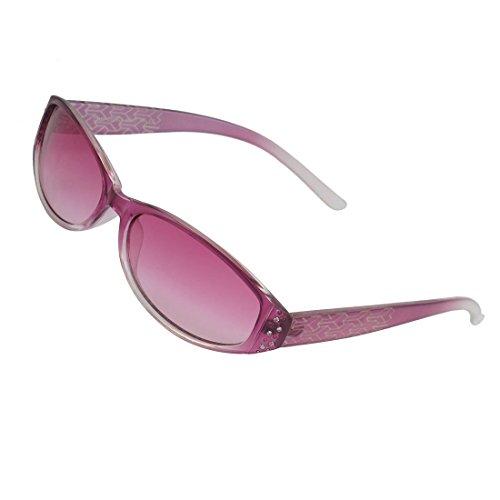 Como Women Rhinestone Decor Frame Arrows Pattern Arm Farbhaube Vollrandfassung Sunglasses