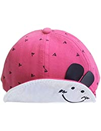 d740d8863 Cinnamou Sombreros y Gorras para bebés niña Niñas Niños Cara Sonriente Gorra  de béisbol El Borde en Forma de Pato Lengua Divertido…