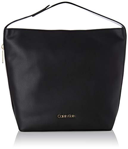 Calvin Klein Jeans Damen Drive Hobo Schultertasche, Schwarz (Black), 15 x 45 x 37 cm -
