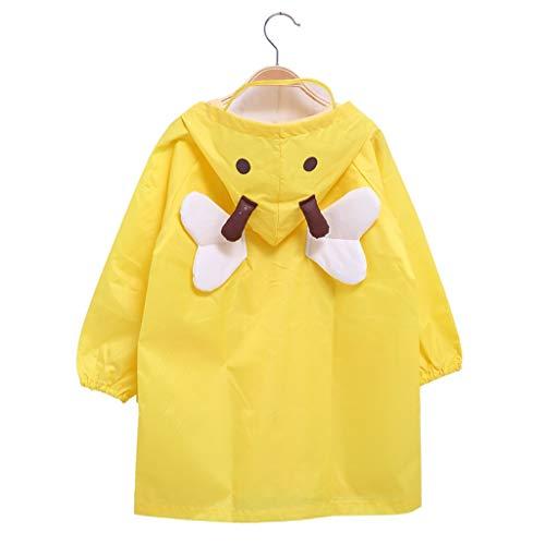 ALXLX Kinder Regenmantel - Cartoon Regenjacke Mit Wasserdichter Kapuze Kinder Poncho Teens Regenbekleidung Perfekt Für Outdoor-Aktivitäten (Farbe : Gelb, größe : M)