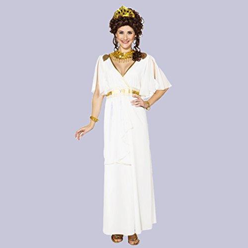Kostüm Griechische Göttin Gr. 36- 46 langes Kleid weiß Antike Römerin Fasching (40/42)
