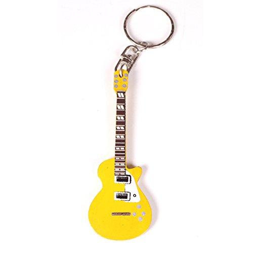 Gitarre Holz-Schlüsselanhänger mit Miniatur-Gitarre, die Flying V-Gitarre, Schlüsselanhänger in verschiedenen Formen, die sich der Form-Form, LP Gitarren-Form, Design 20, As Pic