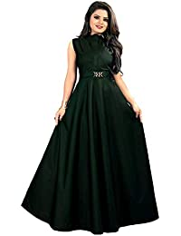 cd43a502c5 ... Ethnic Wear   Gowns   Greens. vaidehi creation Women s Twill Tafeta  Anarkali Style Gown for Girl