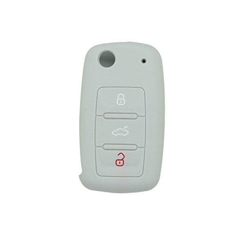 fassport-silicone-cover-skin-jacket-for-volkswagen-skoda-seat-3-button-flip-remote-key-cv2802-grey