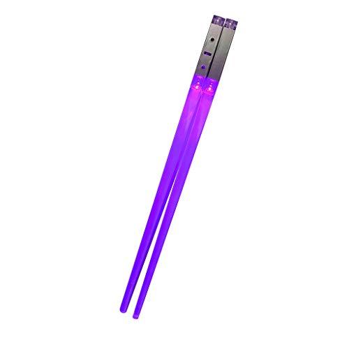MAYOGO leuchtende LED Stäbchen Lichtschwert Essstäbchen, Langlebig, Leicht, Tragbar, BPA-frei,umweltfreundliche lebensmittelecht