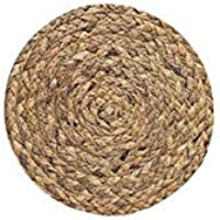 SDHF Posavasos Tabla Mantel /, Forma de ratón Ronda de cocina de lino de la armadura de aislamiento decoración resistente al calor Anti Slip Mat natural (Color : Calabash 11cm, Size : One Size)