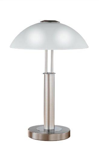 Wofi Tischleuchte-Prescot, 2-flammig, Nickel-matt, Höhe : 42 cm, 8747.02.64.0000 -