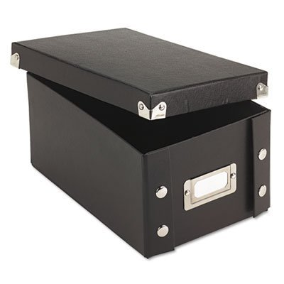 Snap 'N Store Collapsible Index Card File Box Holds 1,100 4 x 6 Cards, Black, Sold as 1 Each by Snap-N-Store (File 4x6 Index Box Card)