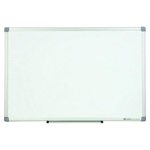 Nobo Nano Clean Weißwandtafel aus Stahl (30% leichter abwischbar, magnethaftend, Alurahmen, mittel, 900 x 600mm, inkl. Zubehör)