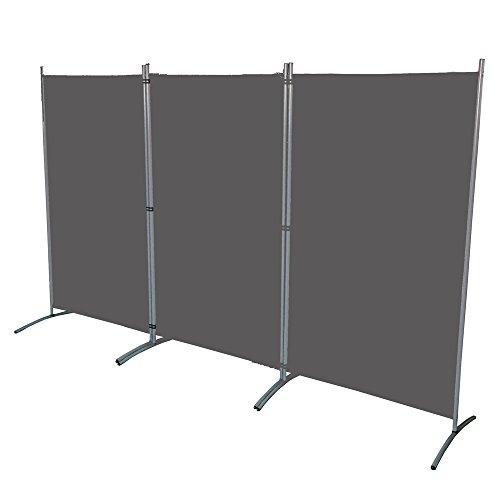 SAILUN® 260x180cm Antracita Biombo Privacidad Plegable