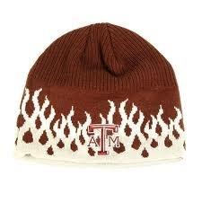 NCAA Offiziell Lizenziert Texas A & M Aggies Flamme Stil Bestickt beaenie Hat Cap Deckel -