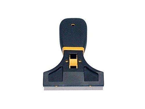 Glasschaber 90 mm inklusive Klinge versenkbar mit rutschhemmenden Griff