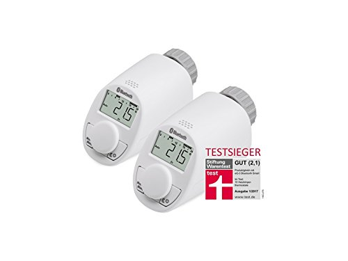 Heizkörper-Thermostatkopf EQIVA mit Bluetooth, 2 Stück