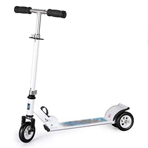 ROLLER ZHAOSHUNLI Scooter für Kinder Großer Zweiradfalten Dreirad Big Boy Anfänger 3-6-12 Jahre (Color : White, Size : Three-Wheel) (Dreirad Big Kid)