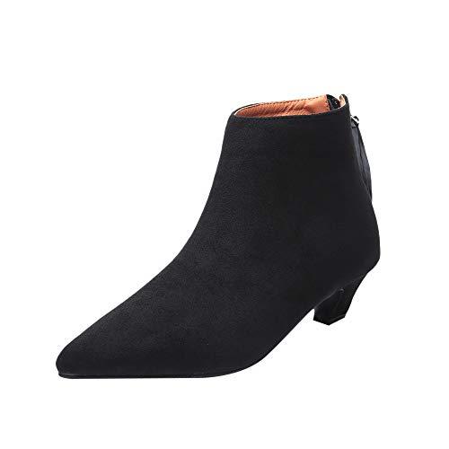 Femme Chaussures Décontractées à Bout Pointu et à léopard pour Bottes Femme Hiver Femme Chaussures Haute