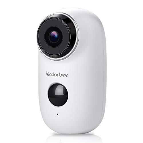 Überwachungskamera Kamera Wireless WLAN 720P HD IP Security Kamera Home Outdoor Wetterfest mit 2-Wege-Audio, Nachtsicht, Bewegungserkennung (Wireless Security-kamera, Outdoor)