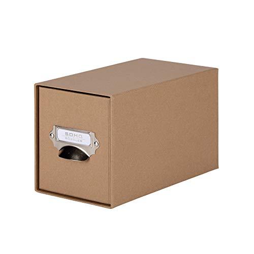 Rössler 1327452620 - S.O.H.O. Aufbewahrungs CD-Schubladenbox, mit beschriftbarem Einsteckschild und Griff, kraft