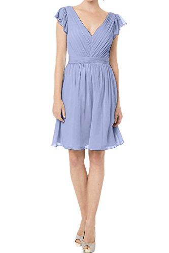 ivyd ressing robe simple ligne V court de la découpe A Demoiselle d'Honneur Prom Lave-vaisselle robe robe du soir Lilas
