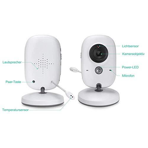 GHB Babyphone 3,2 Zoll Smart Baby Monitor mit TFT LCD Bildschirm Nachtsichtkamera und Temperaturüberwachung (Verpackung MEHRWEG)
