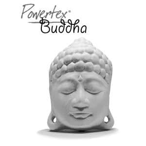 Tête de Bouddha en plâtre - Powertex