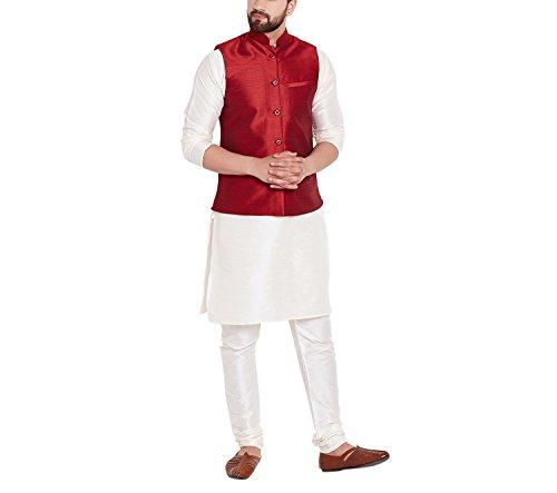 Sojanya (Since 1958) Dupion silk Nehru Jacket