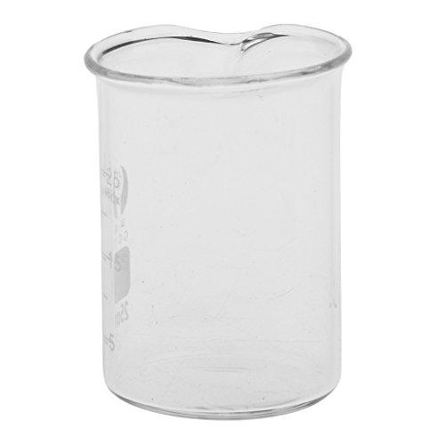 Homyl Vaso Graduado de Vidrio Dispensador de Borosilicato Química de Laboratorio 10mL - 2000mL - 25 ML