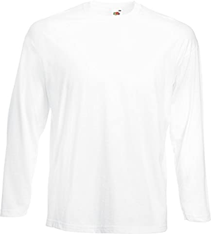 Fruit of the Loom 61-038-0 Long-Sleeved T-Shirt - White - Small