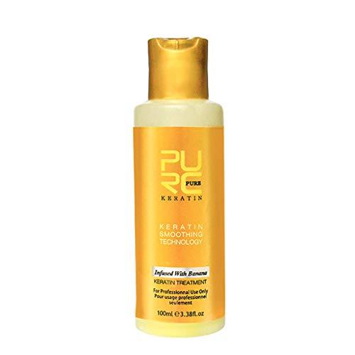 Bfmyxgs 60-120 Ml Hair Care Conditioner Essence Care Vermeidet Ranunculus Purc-Haarmasken-Conditioner Mit Bananengeschmack Brasilianisches Keratin, Das Haariges Haar Repariert -