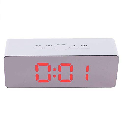 GYCZC Despertador Led Reloj De Espejo De Maquillaje Batería Enchufable Espejo De Doble Uso Reloj Despertador...