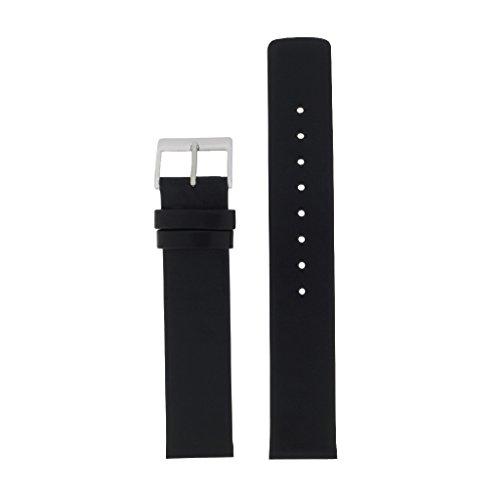 Skagen Uhrband Wechselarmband LB-359USLB Original Ersatzband 359USLB Uhrenarmband Leder 18 mm Schwar