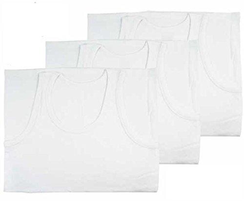 Herren Unterhemd 6er Packung 100% Baumwolle Sommer Hemd Weiß Erhältlich in S-XXL Weiß